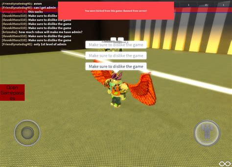 kick   roblox vip server
