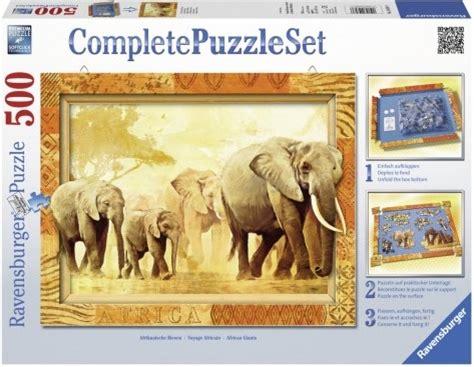 puzzle 500 pi 232 ces cadre voyage africain 233 l 233 phants ravensburger