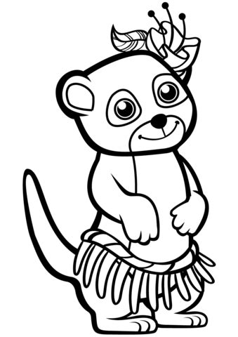 Funny Meerkat coloring page Free Printable Coloring Pages