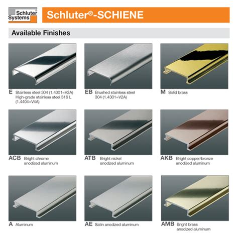 schluter schiene m edge solid brass tile trim 2 5m length ebay