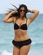Claudia Romani in Black Bikini at the Beach in Miami 2/28 ...