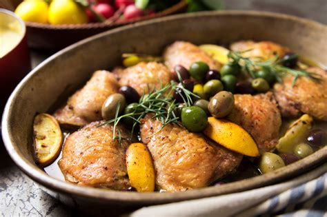braised chicken  lemon  olives recipe nyt cooking