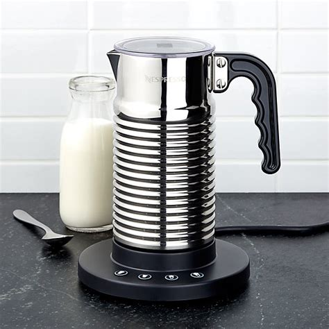 nespresso aeroccino  frother reviews crate  barrel