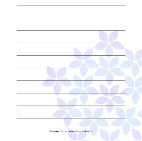 nauxelle hydrangea printable letter paper