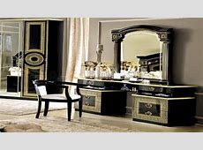 Black vanity with mirror, vanity with gold and black