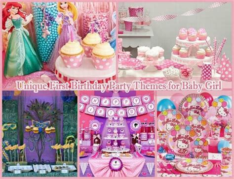 unique 1st birthday party ideas 10 unique birthday party themes for baby girl 1st