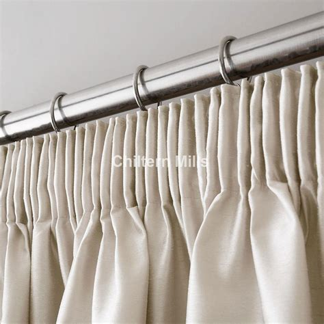 ivory faux silk pencil pleat curtains chiltern mills