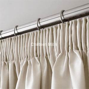 ivory faux silk pencil pleat curtains chiltern mills With pencil pleat drapes