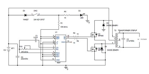 Simple Inverter Circuit Diagram Its Working