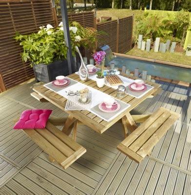Table Carrée 8 Personnes 600001755 Table Bois Pique Nique Carra