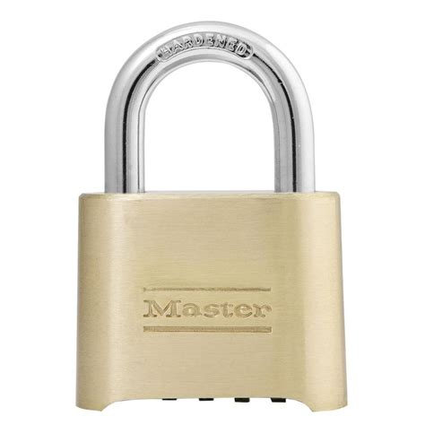 combination door locks lowes shop master lock 2 in brass shackle combination padlock at