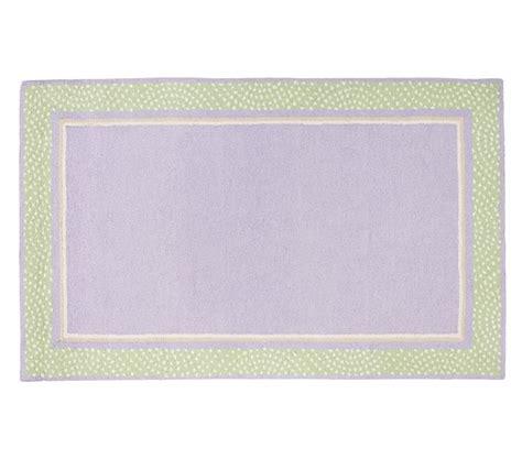 polka dot rug polka dot border rug purple pottery barn