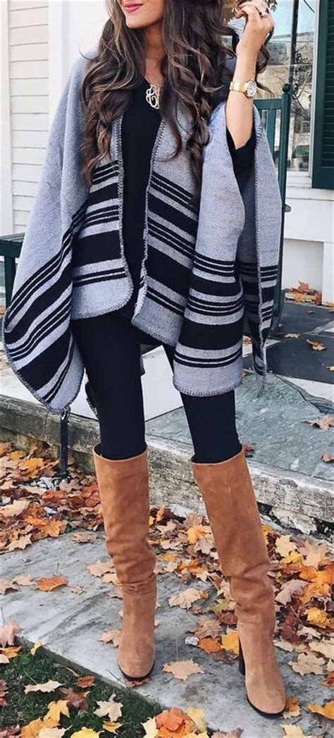 25+ best ideas about Poncho outfit on Pinterest   Style fashion Girls school clothes and Casual ...
