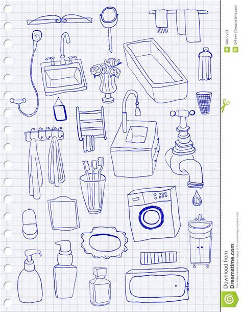 oggetti bagno oggetti bagno illustrazione vettoriale illustrazione