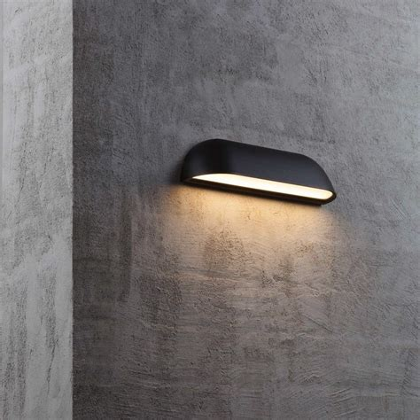 dftp nordlux front  outdoor led wall light black