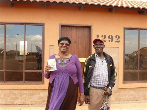 westonaria borwa residents receive  houses
