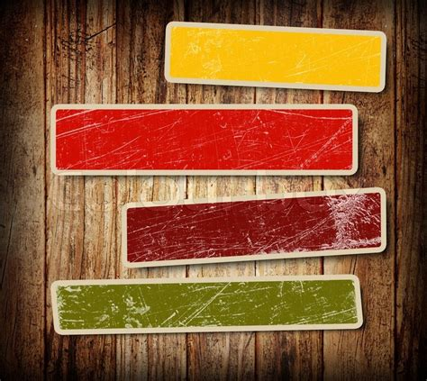 background for text background with colorful boxes for text on wood background