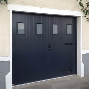 porte de garage 4 vantaux a la francaise en aluminium With porte de garage enroulable avec porte de garage pvc 2 vantaux