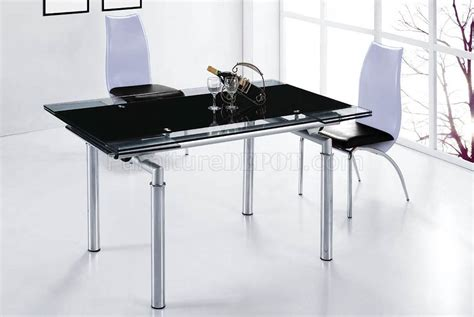 dtlb dc dining table wextendable glass top metal base
