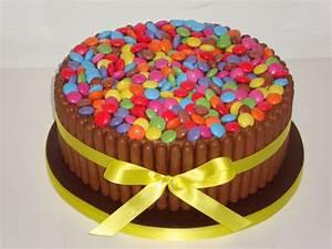 Smarties & Fingers Cake - Celebration Cakes - Cakeology