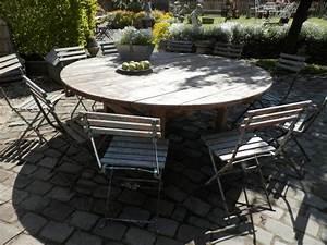 Grande Table De Jardin : grande table de jardin et chaises bistrot photos d ambiance sortie 10 les antiquaires de ~ Teatrodelosmanantiales.com Idées de Décoration
