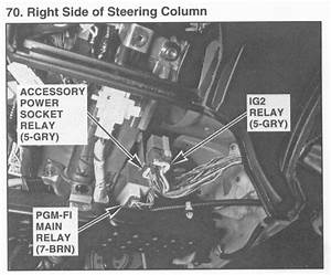 Pgm-fi Main Relay Location - Fuel Pump Help