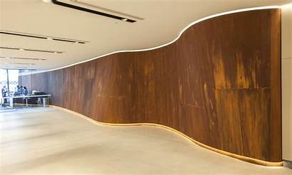 Metal Panels Curved Decorative Screens Interior Rust