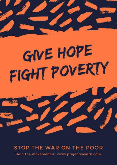 customize  poverty poster templates  canva