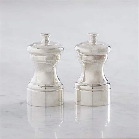 Peugeot Salt And Pepper Mills by Peugeot Silver Mignonette Salt Pepper Mills Williams