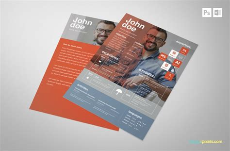 Psd Template Resume And Cover Letter by Free Creative Psd Resume Template Premium Ms Word Resume