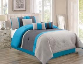 grey california king comforter 7 pc oversize blue gray embossed comforter set cal king