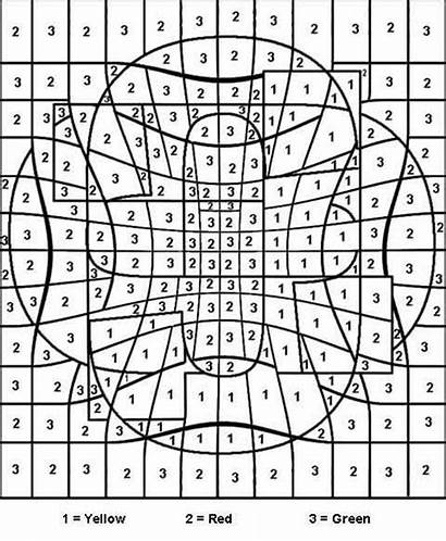 Number Numbers Coloring Pages Adult Teenagers Colouring