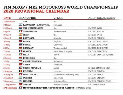 calendario mxgp world championship pagina