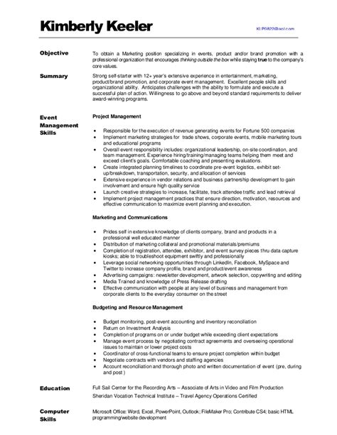 Trade Marketing Resume by Kimberlykeeler Marketing Resume 2012