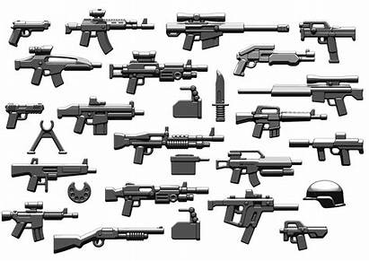 Lego Brickarms Modern Combat Pack Weapons V6