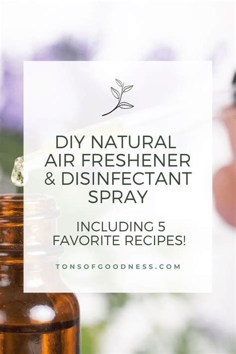 DIY Natural Air Freshener & Disinfectant Spray Recipes