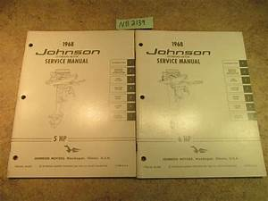 1968 Johnson Evinrude Outboard Service Manual Year Set 1 5