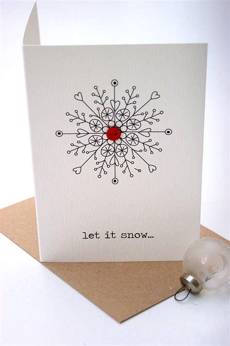 snow christmas button card christmas buttons