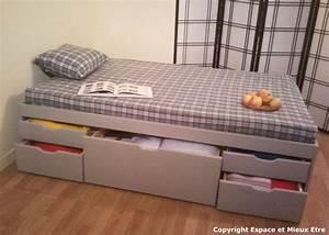 Lit Ikea Avec Tiroir : lit avec tiroirs ~ Mglfilm.com Idées de Décoration