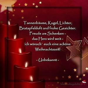 Schöne Weihnachten Grüße : besinnliche weihnachtsgedichte weihnachtsspr che f r ~ Haus.voiturepedia.club Haus und Dekorationen