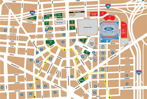 Ford Field Parking Deck Detroit Mi 48226 by Stadium Guide