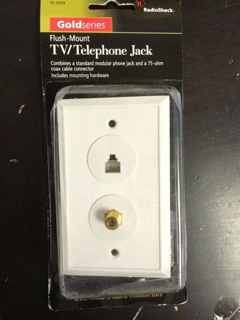 Tv Plate 1 Pc Radioshack Tv Telephone Coaxial Coax Gold Series Wall Plate Cover Ebay