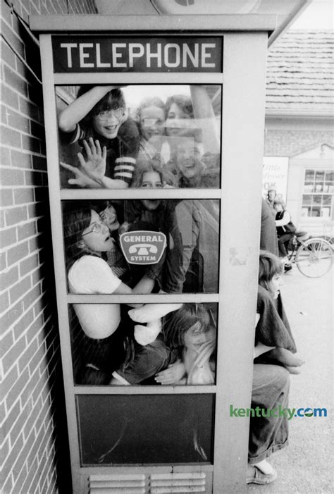 phone booth stuffing  kentucky photo archive