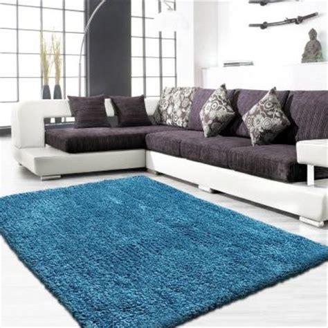tapis shaggy tapis cotton shaggy bleu turquoise en taille    cm yesdekocom