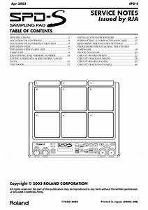 Roland Spd-s Spds Spd Complete Service Manual