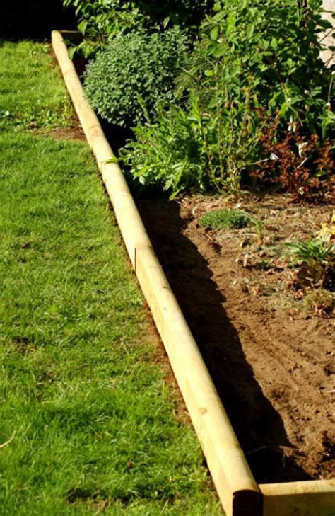 25 best ideas about landscape timber edging on