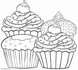 Muffin Coloring Pages Printable Getcolorings Print sketch template