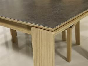 Plateau En Chene Massif : table rectangulaire gaspard en ch ne plateau ceramique 1 allonge l 39 italienne de 90 cm meuble ~ Teatrodelosmanantiales.com Idées de Décoration
