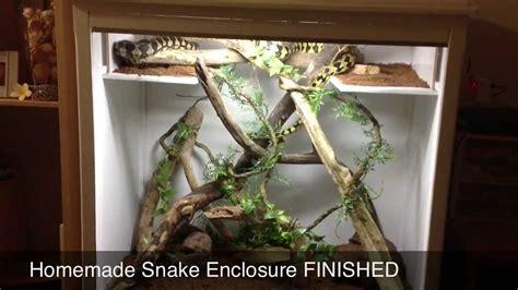 DIY Snake Enclosure FINISHED - YouTube