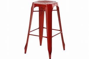 Tabouret De Bar Industriel Pas Cher : tabouret de bar industriel rouge samson design sur sofactory ~ Teatrodelosmanantiales.com Idées de Décoration